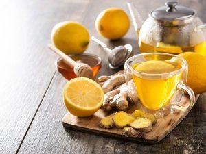 hot lemon tea to relieve cold symptoms